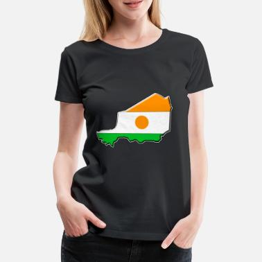 Niger Niger flag map - Women's Premium T-Shirt