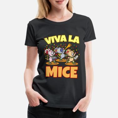 Viva La Viva La Mice Sweet Mouse Party Daycare Kids Comic - Premium T-skjorte for kvinner