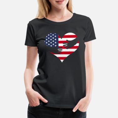 AMÉRIQUE USA DRAPEAU AMÉRICAIN T-SHIRT 4ème JULY HOMMES FEMMES ENFANTS