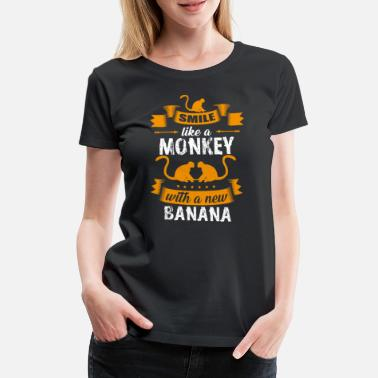 Animal Love Animal Rights Activists Monkeys zoo animal love animal rights activists - Women's Premium T-Shirt