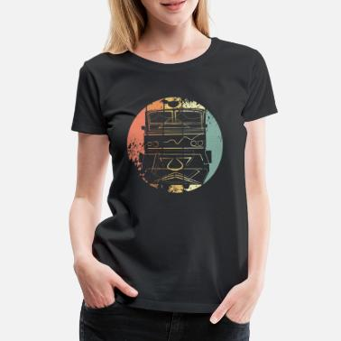 Retro Train locomotive - Women's Premium T-Shirt