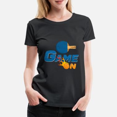 Ping Pong Ball Game On Pingpong Table Tennis Player Gift - Women's Premium T-Shirt