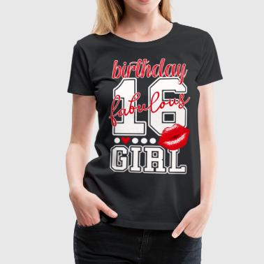 sweet 16. Geburtstag birthday girl College Nummer - Frauen Premium T-Shirt