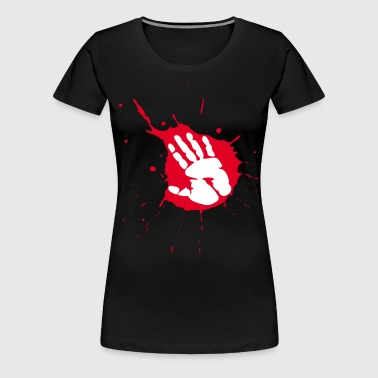 splash handabdruck - Frauen Premium T-Shirt