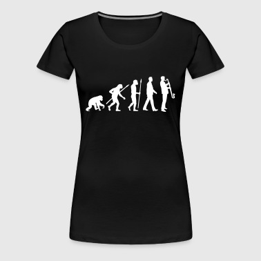 evolution_bass_klarinette_spieler_082013 - Frauen Premium T-Shirt