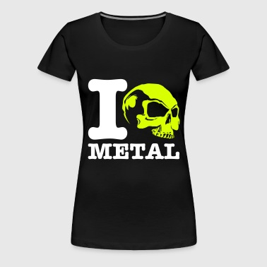 I love Metal! Skull - Women's Premium T-Shirt