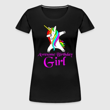 Unicorn birthday party - Women's Premium T-Shirt