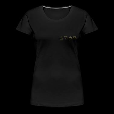 fire, water, air & earth - The 4 elements of gold - Women's Premium T-Shirt