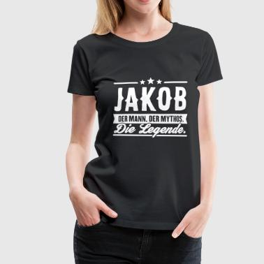 Man Myth Legend Jakob - Premium T-skjorte for kvinner