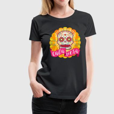 Mexican Sugar Skull of the Day of the Dead - Women's Premium T-Shirt