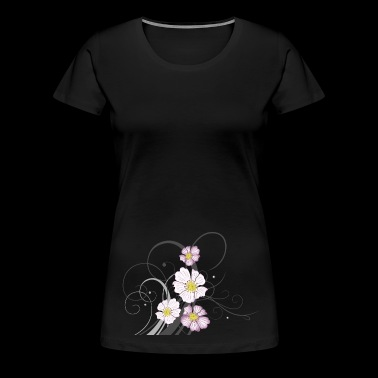 Tendril with wild roses and flowers. Summer. - Women's Premium T-Shirt