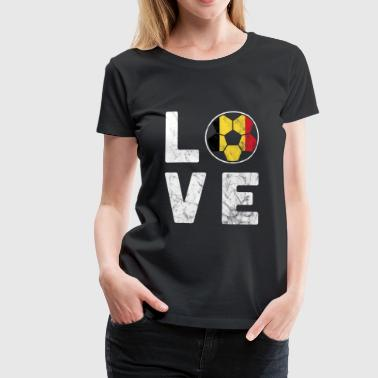 Coupe du monde de football Coupe du monde d'amour - T-shirt Premium Femme
