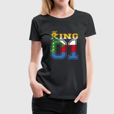 land partner king 01 prince Komoren - Frauen Premium T-Shirt