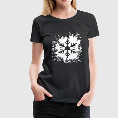 Ice Crystal Snowflake Snowflake Splash3 - Women's Premium T-Shirt