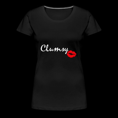 clumsy white - Women's Premium T-Shirt