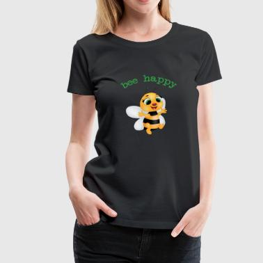 fleet bee, be happy - Women's Premium T-Shirt
