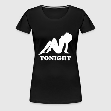 Naked Girl Silhouette - Women's Premium T-Shirt
