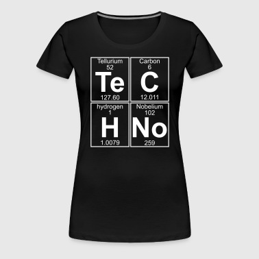 Te-C-H-No (techno) - Frauen Premium T-Shirt