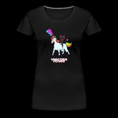 Unicorn and Cat - Vrouwen Premium T-shirt