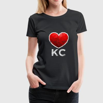 Kansas City Heart T skjorte Look - Premium T-skjorte for kvinner