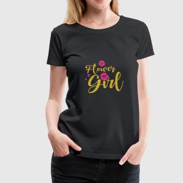Flower Girl Wedding T Shirts Gift - Frauen Premium T-Shirt