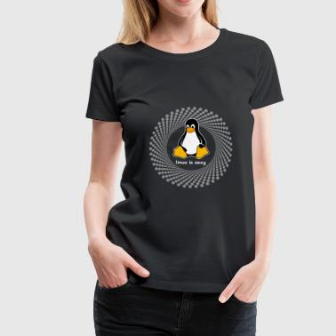 Computer system penguin nerd pc inside program lo - Women's Premium T-Shirt