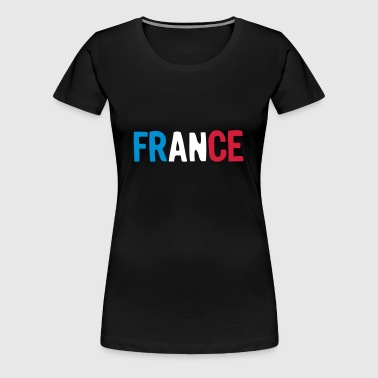 logo france foot equipe supporter drapea - T-shirt Premium Femme