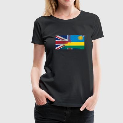 British Rwanda Half Rwanda Half UK Flag - Women's Premium T-Shirt