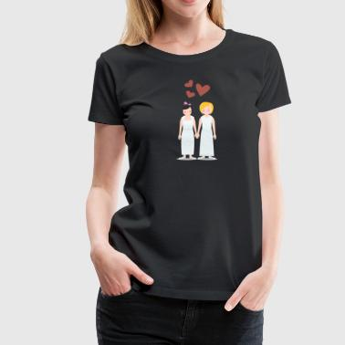Lesbian couple wedding - Women's Premium T-Shirt
