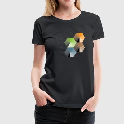 Hexagon - Women's Premium T-Shirt