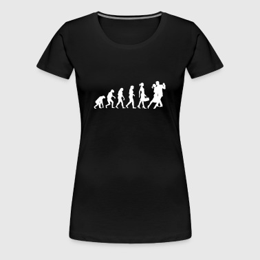 Evolution of Ladies Tango - Women's Premium T-Shirt