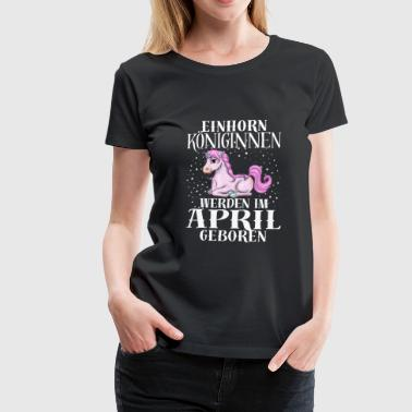 APRIL Einhorn 2 - Frauen Premium T-Shirt