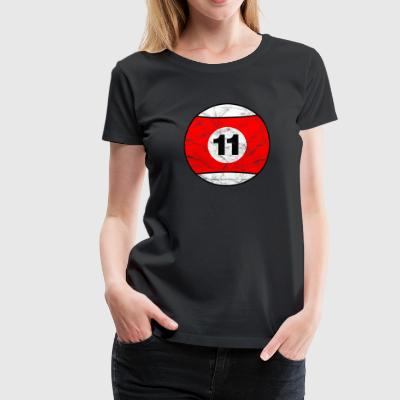 Billiard billiard ball red eleven eleven vintage - Women's Premium T-Shirt