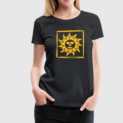 085 orange sun - Women's Premium T-Shirt