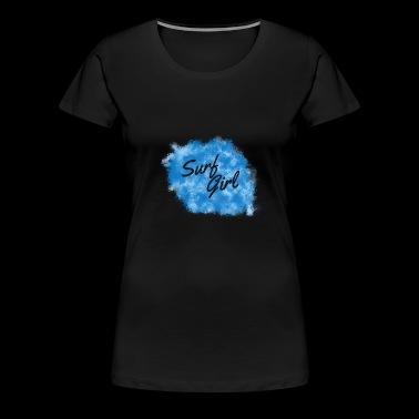 Surf Girl | Surfergirl design - Dame premium T-shirt