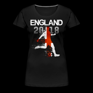 England Soccer Team 2018 - Football Fan - Women's Premium T-Shirt