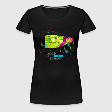 Berlin is like a colorful journey - Frauen Premium T-Shirt