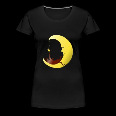 Cat in the moon plays with star gift - Women's Premium T-Shirt