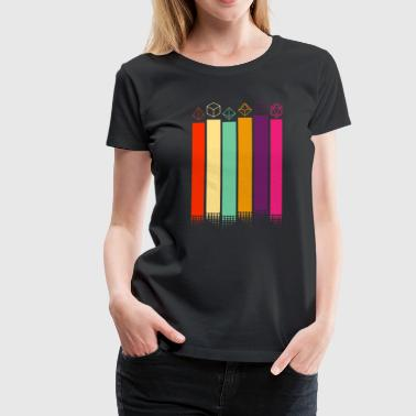 70s Dice - Women's Premium T-Shirt