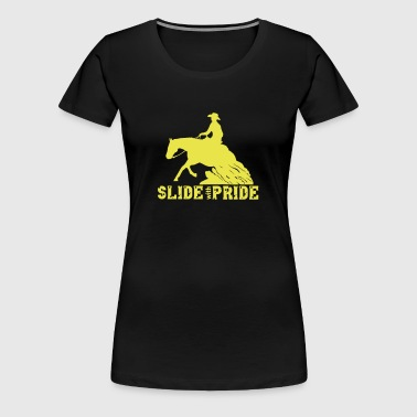 Slide with pride - Premium-T-shirt dam