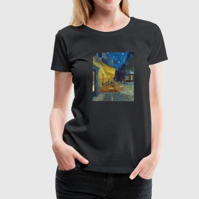 Cafe terrace in the evening in Arles - Van Gogh - Women's Premium T-Shirt