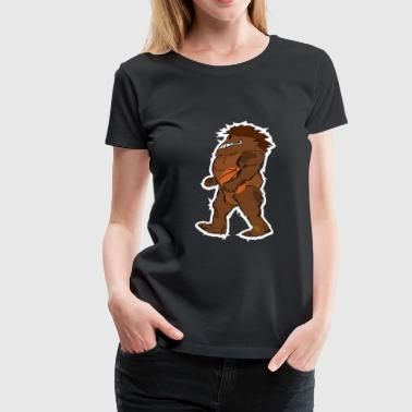 Bigfoot Sasquatch Basketball Comic - Frauen Premium T-Shirt