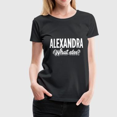ALEXANDRA whatelse - Dame premium T-shirt