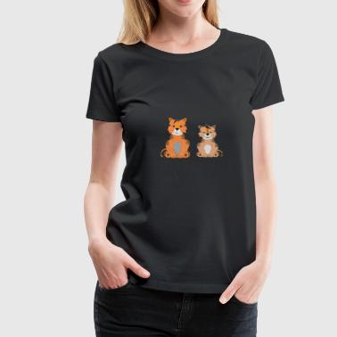 Two cute tigers - Women's Premium T-Shirt