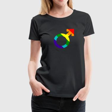 Gay pride rainbow men symbol - Women's Premium T-Shirt