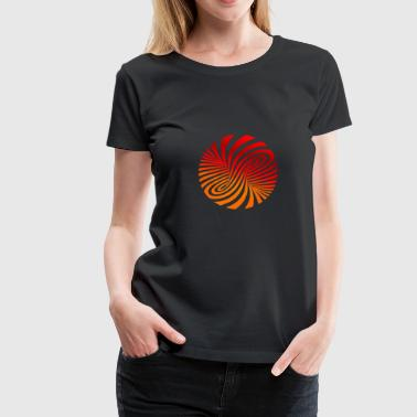 psychedelic optical type swirl orange 70s style fu - Women's Premium T-Shirt