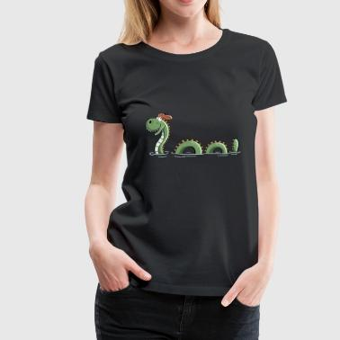 Nessie Sea Monster In Scotland - Comic - Fun - Women's Premium T-Shirt