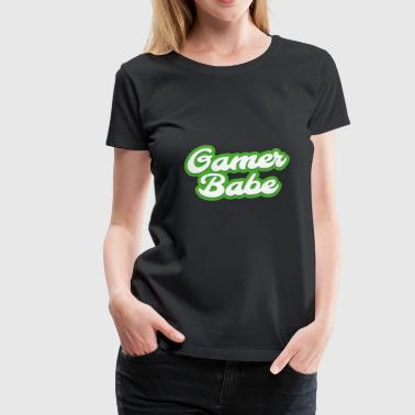 Gamer Babe in Green! - Women's Premium T-Shirt
