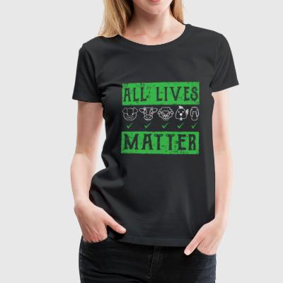 Vegan animal protection shirt - Women's Premium T-Shirt