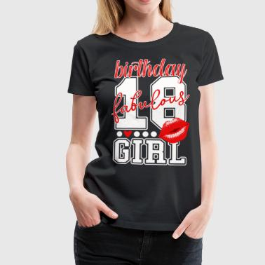 18 años 18 cumpleaños Red Kiss Chicas chica - Camiseta premium mujer